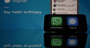 Signal was downloaded 8.8 million times worldwide in the week after the WhatsApp changes were first announced on January 4th. Photograph: AFP via Getty