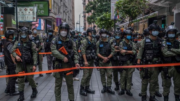 His arrest has stirred fears authorities will target lawyers in Hong Kong who represent opposition figures in political cases. Photograph: Lam Yik Fei/The New York Times