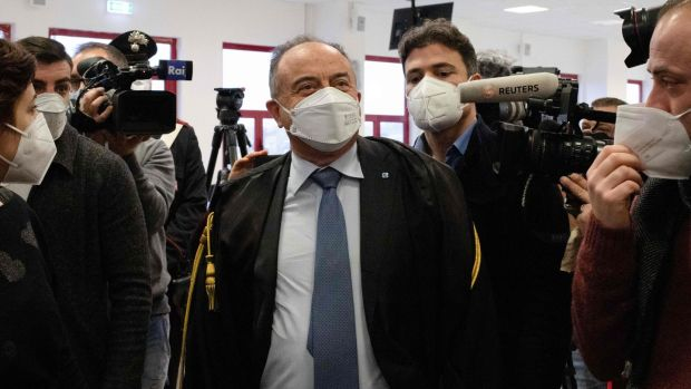 Italian anti-mafia prosecutor Nicola Gratteri. Photograph: Gianluca Chininea/AFP via Getty Images