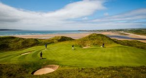 A view of the eighth green at Lahinch Golf Club. Photo: Oisin Keniry/Inpho