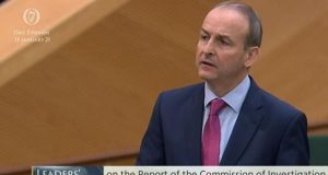 Taoiseach Micheál Martin addressing the Dáil on Wednesday. Image: Oireachtas TV