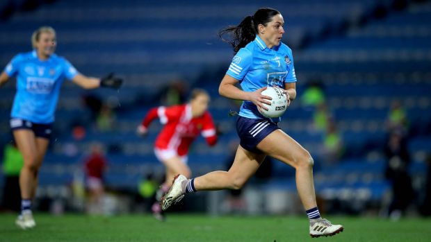 Dublin's Sinéad Goldrick in action against Cork in the TG4 All-Ireland Final at Croke Park. Photograph: Ryan Byrne/Inpho