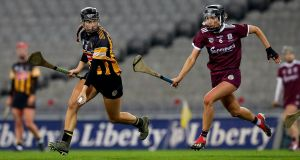 Aoife Doyle of Kilkenny in action during the  Liberty Insurance All-Ireland  Camogie  Final at Croke Park. Photograph: Ryan Byrne/Inpho