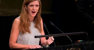 Samantha Power said she felt 'immensely fortunate to have the chance to serve again, working with the incredible USAID team to confront Covid-19, climate change, humanitarian crises, and more.' File photograph: Don Emmert/AFP via Getty Images