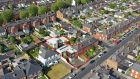 An aerial view of the Woodville student accommodation scheme  on Botanic Avenue, Drumcondra, Dublin 9