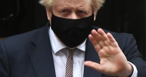 "UK prime minister Boris Johnson:  The success of the vaccination process, depends on us not finding out the South African or Brazilian variants are vaccine resistant,"" he said. Photograph:  Chris J Ratcliffe/Getty Images"