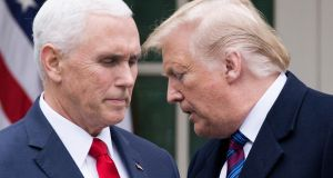 US vice-president Mike Pence and President Donald Trump. Photograph:  Michael Reynolds