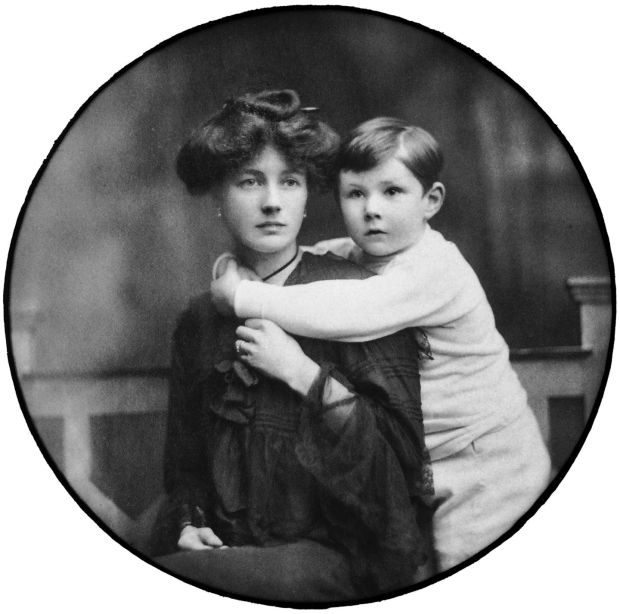 Francis Bacon age approx 4 with his mother Winnifred Bacon, Courtesy the Estate of Francis Bacon