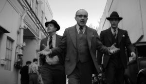 The self-indulgent incoherence of David Fincher's Mank, with Gary Oldman as Herman Mankiewicz, Arliss Howard as Louis B Mayer and Tom Pelphrey as Joe Mankiewicz. Photograph: Netflix