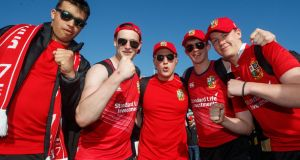 Lions fans on tour in New Zealand: South Africa now has over 1m people infected and a new super-infectious Covid-19 variant is rampant.  This not an environment for the Lions and their 30,000 supporters to visit. Photograph: James Crombie/Inpho