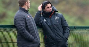 Joey Carbery is edging closer to a return with Munster. Photograph: James Crombie/Inpho