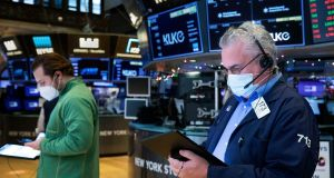 Holiday company TUI gained 5% after it said the vaccination campaign in Britain had boosted summer bookings from those aged 50 and over. Photograph: Colin Ziemer/New York Stock Exchange via AP