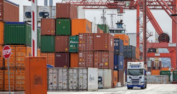 Dublin Port this week. Traders have expressed frustration at the layers of new border controls applying now on imports from Britain.  Photograph: AFP via Getty