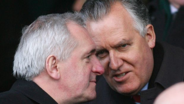 Peter Hain, the then Northern Ireland secretary with then taoiseach Bertie Ahern at Lansdowne Road for a Six Nations game in 2006. Photograph: Peter Muhly/AFP/Getty