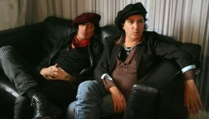 Sylvain Sylvain (right) and Sami Yaffa of The New York Dolls in London in 2006. Photograph: Jane Mingay/PA