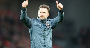 "Southampton manager Ralph Hasenhüttl:  he  spent last spring creating a digital ""playbook"", a blueprint for players and staff to follow across the club.   Photograph:   Matt Watson/Getty Images"