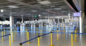 An empty Terminal 1 at Dublin Airport in April last year. Photograph: Nick Bradshaw