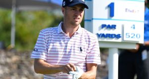 Clothing company Ralph Lauren has terminated its sponsorship of Justin Thomas. Photograph: Matthew Thayer/AP