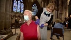 British Cathedral is turned into Covid-19 vaccine centre