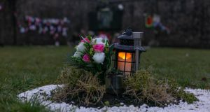 A lantern at the site of the Tuam mother and baby home.  Photograph: Andy Newman
