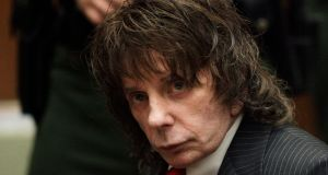 Music producer Phil Spector sits in a Los Angeles courtroom in May 2009 awaiting sentencing for  his murder conviction. Spector, the eccentric and revolutionary music producer who transformed  music with his Wall of Sound method, died on Saturday. File photograph: Jae C Hong/AP Photo