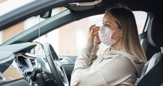 Cars and coronavirus: 'Even if you're wearing a face covering, you still get tiny aerosols that are released every time you breathe.' Photograph: iStock/Getty