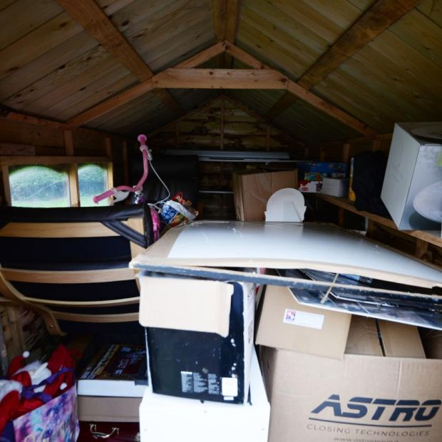 Bursting: all the stuff they'd been storing was targeted when Jason O'Callaghan and his family decided to declutter. Photograph: Alan Betson