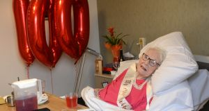 Eileen Nangle turned 100 on January 18th. Photograph: Dara Mac Donaill