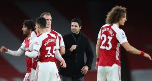 Mikel Arteta's Arsenal team were comfortable winners over Newcastle on Monday night. Photograph: EPA