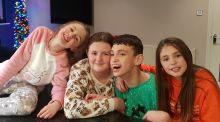 The O'Donovans: Sophie (12), Robyn (10), Katie (7) and Jack (17) are being homeschooled by their mother, Lynsey, while schools are closed by Covid-19