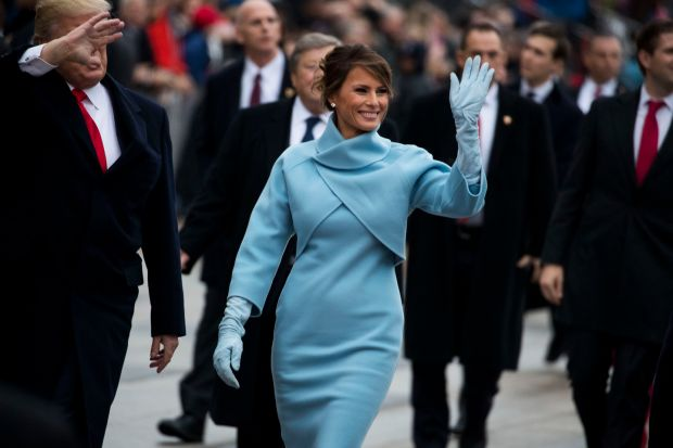 Melania Trump on inauguration day in 2017. Photograph: Doug Mills/The New York Times