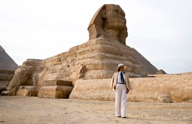 Melania Trump in Egypt in 2018. Photograph: Doug Mills/The New York Times