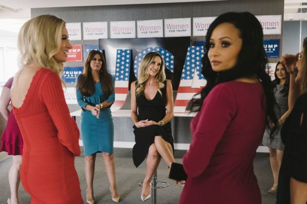 From left, Kayleigh McEnany, Kimberly Guilfoyle, Lara Trump, Katrina Pierson and Hannah Castillo in 2019. Photograph: Lexey Swall for The New York Times