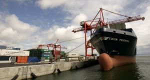 Dublin Port Company reported trading figures for the fourth quarter of 2020 and for the year as a whole. Photograph: Dara Mac Dónaill / The Irish Times