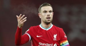 Liverpool captain Jordan Henderson has been named as the first NHS Charities Together 'Champion'. File photograph: PA