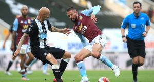 Ireland international midfielder  Conor Hourihane is to go on loan from Aston Villa to Swansea until the end of the season. Photograph: Lindsey Parnaby/Pool via Getty Images