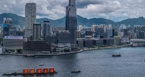 The new Chinese regime in Hong Kong has raised concerns about Hong Kong's future as a global financial centre. Photograph: Lam Yik Fei/The New York Times