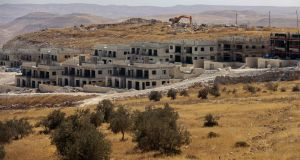 New housing construction in the Nokdim settlement in the Israeli occupied West Bank, south of the Palestinian city of Bethlehem, pictured in October 2020. Photograph: Getty Images