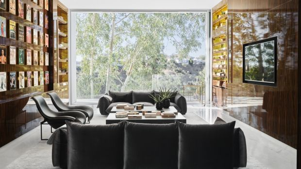 The Hollywood Hills megamansion took eight years to complete.