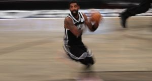 Signing with the Nets in 2019 was supposed to be a homecoming of sorts for the New Jersey-raised Kyrie Irving. Photograph: Getty Images