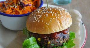 Lilly Higgins's black bean burger.
