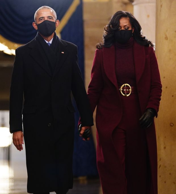 Former US President Barack Obama and Michelle Obama.  Photograph: EPA / Jim Lo Scalzo