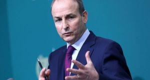 Taoiseach Micheál Martin's video conference with EU leaders is focused on co-ordinating how to tackle coronavirus, vaccination strategies, and 'what is happening with the UK variant in Ireland and other countries'. Photograph: Julien Behal/Handout/EPA