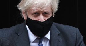 "British prime minister Boris Johnson  called the UK's latest death toll ""appalling"". Photograph: Andy Rain/EPA"