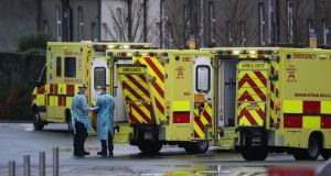 There are 1,949 people in hospital with Covid-19 and 214 people in intensive care, according to the Covid-19 data hub. File photograph: Niall Carson/PA Wire