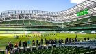 The Aviva Stadium has hosted 18 matches behind closed doors between soccer and rugby. Photo: James Crombie/Inpho