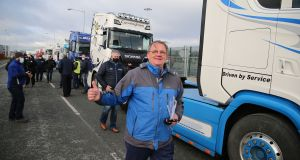 Irish Road Haulage Association  president Eugene Drennan at Dublin Port. Photograph Nick Bradshaw.