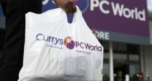 Irish customers of Currys/PC World have had their orders cancelled. File photograph: Simon Dawson/Bloomberg