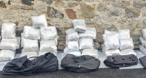 During the searches, cannabis with an estimated street value of €1.2 million was seized along with one firearm and ammunition. Photograph: An Garda Síochána