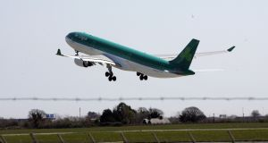 Aer Lingus wrote to the department in October. Photograph: Alan Betson